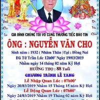 Cáo phó Thân phụ bạn Nguyễn Tiết Hùng (ACC74)