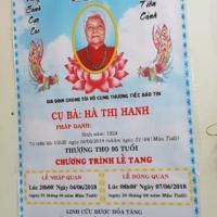 Đám tang mẹ bạn Vy Văn Thịnh