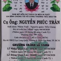 Nhạc phụ bạn Nguyễn Văn Dũng (ACC74) vừa từ trần