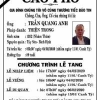 Thân phụ bạn Trần Quang Lạc